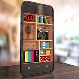 3d Smartphone Immagini Stock Libere da Diritti