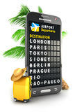 3d smartphone airport board Royalty Free Stock Images