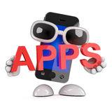 3d Smartphone apps Stock Image