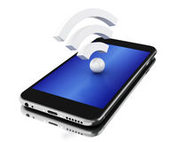 3d Smartphone avec l'icône de wifi Photo stock