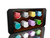 3d Smartphone avec le magasin Photos stock