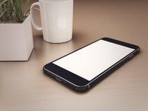 3d Smartphone con lo schermo in bianco illustrazione di stock