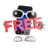 3d Smartphone está libre Fotografía de archivo