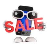 3d Smartphone hält einen Verkauf Lizenzfreie Stockbilder