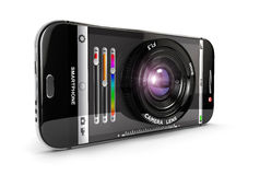 3d Smartphone kamera Obrazy Royalty Free