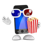 3d Smartphone at the movies Stock Photography