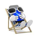 3d Smartphone sunbather Royalty Free Stock Image