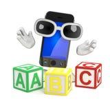 3d Smartphone teaches the alphabet Stock Photos