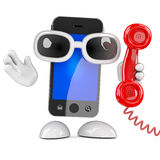 3d Smartphone telephone call Royalty Free Stock Image