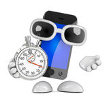 3d Smartphone time keeper Stock Image