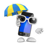 3d Smartphone umbrella Royalty Free Stock Photos