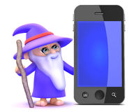 3d Smartphone wizard Royalty Free Stock Photo