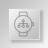 3D smartwatch diagram icon Business Concept Royalty Free Stock Photography