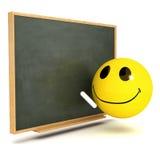 3d Smiley blackboard Zdjęcie Stock