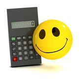 3d Smiley calculator Stock Image