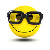 3d Smiley-glazen stock illustratie