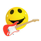3d Smiley guitarist Stock Images