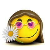 3d Smiley hippy. 3d render of a smiley hippy vector illustration