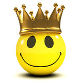 3d Smiley King Royalty Free Stock Photo