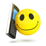 3d Smiley mobile phone Royalty Free Stock Photography