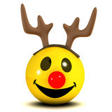 3d Smiley reindeer Stock Photo