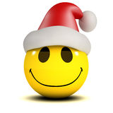 3d Smiley Santa. 3d render of a smiley wearing a Santa Claus hat royalty free illustration