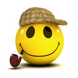 3d Smiley Sherlock Stock Images