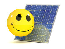 3d Smiley solar panel Royalty Free Stock Image