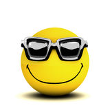 3d Smiley sunglasses Stock Images