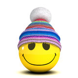 3d Smiley woolen hat Stock Photo