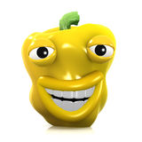 3d Smiley yellow pepper Royalty Free Stock Images