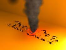 3D smoke. Smoke 3d - glass base 3d design Stock Images