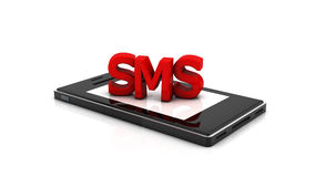 3d sms smartphone Royalty Free Stock Photography