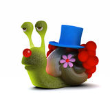 3d Snail clown Stock Photography