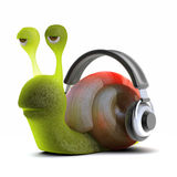 3d Snail headphones Stock Image