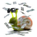 3d Snail jackpot Stock Image