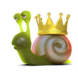 3d Snail king Royalty Free Stock Images