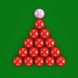 3d Snooker balls ready to break Stock Photography