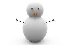 3d snow man concept Royalty Free Stock Images