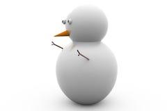 3d snow man concept Stock Images