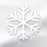 3d snowflake on a white background Royalty Free Stock Photography