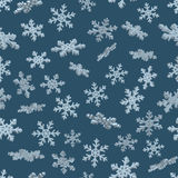 3D snowflakes. Blue seamless background. New year Christmas. Paper packing Stock Photo