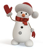 3d snowman. Stock Photo