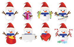 3D Snowman set. EPS10 available Royalty Free Stock Photos