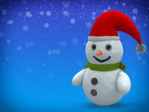 3D - Snowman - Shot 19 Stock Photos