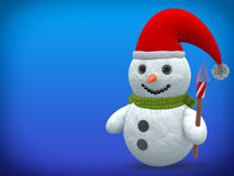 3D - Snowman - Shot 14 Royalty Free Stock Photo