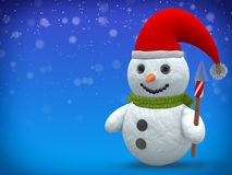 3D - Snowman - Shot 20 Stock Photo