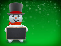 3D - Snowman - Shot 35 Stock Images
