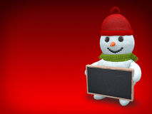 3D - Snowman - Shot 39 Royalty Free Stock Photo