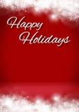 Этап предпосылки карточки праздников 3D Snowy счастливый Стоковое Изображение